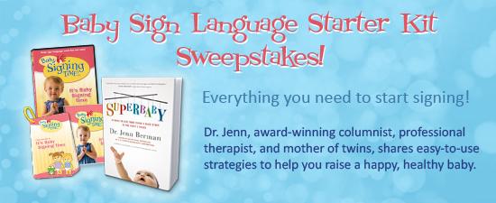 Baby Sign Language Starter Kit Sweepstakes