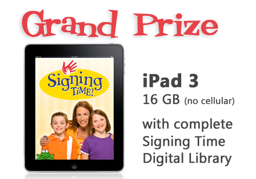 Signing Time on Demand Grand Prize